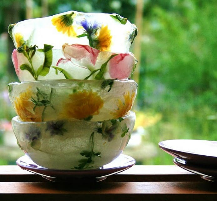 floral ice bowls