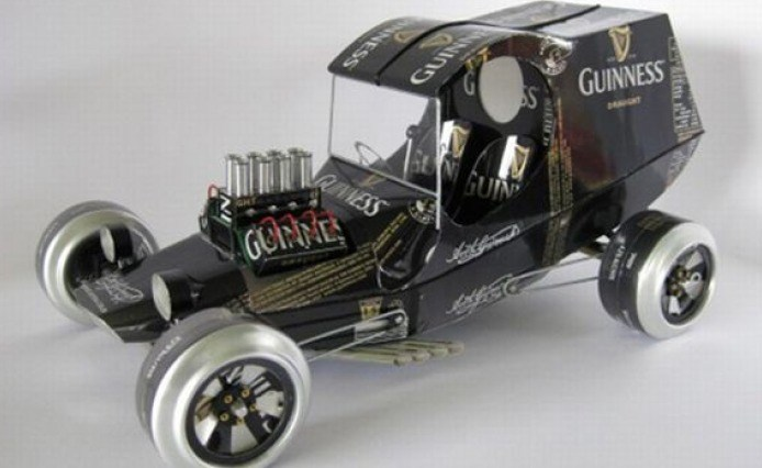Beer Can Vehicles | Guiness Car