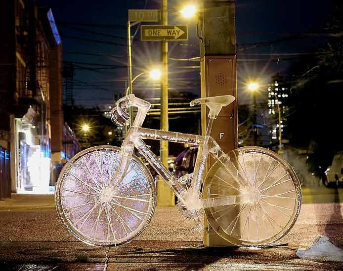 Ice Sculptures | Bicycle by Takeo Okamoto