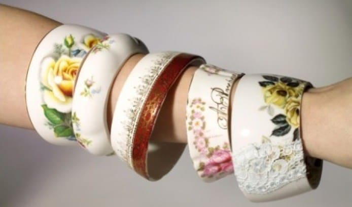 Bracelets Made Of Tea Cups