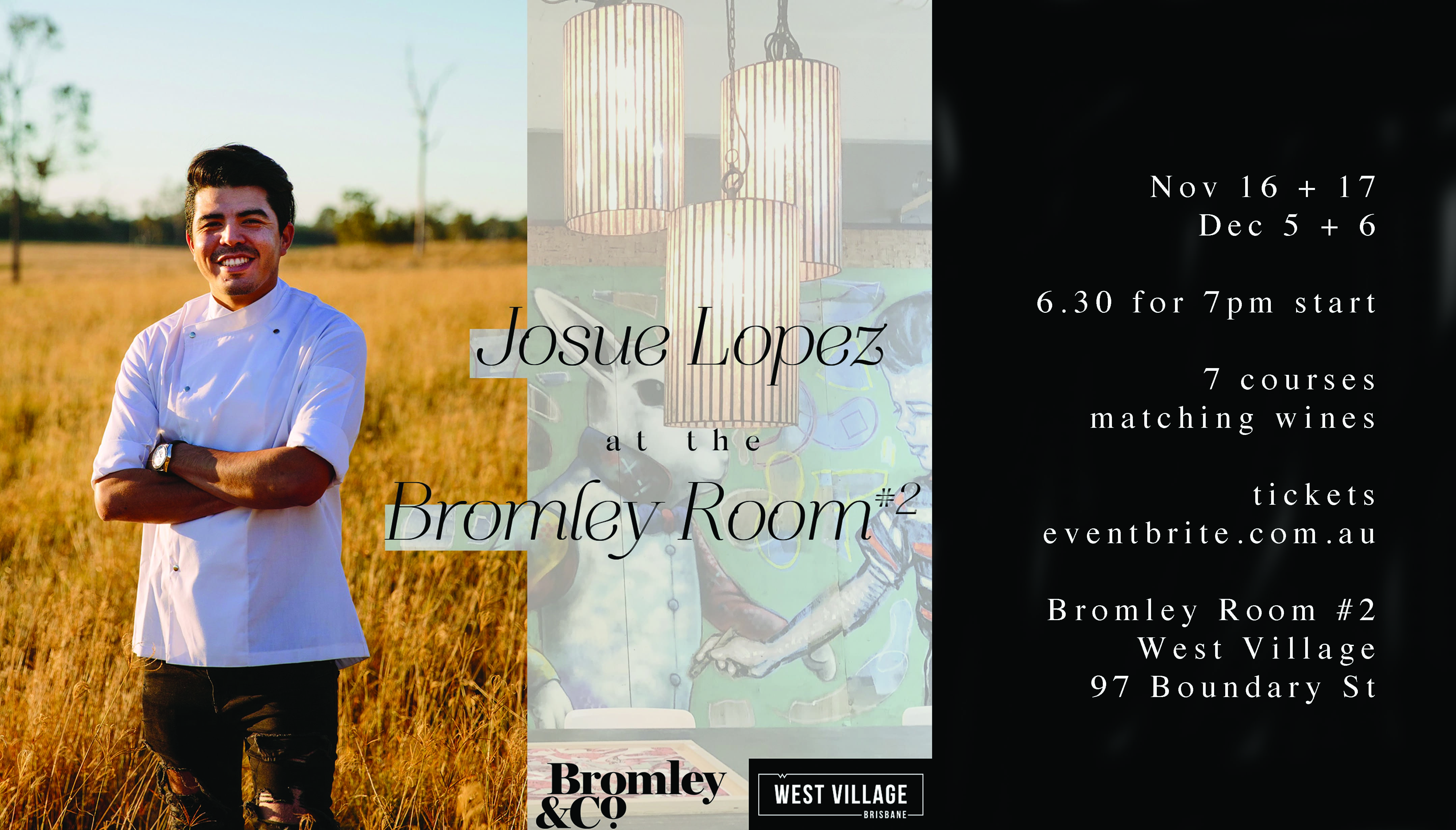 Josue Lopez at the Bromley Room