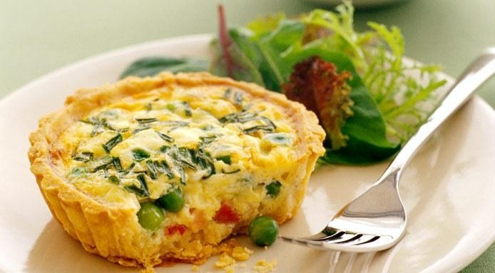Quiche | Mini Peas and Ham