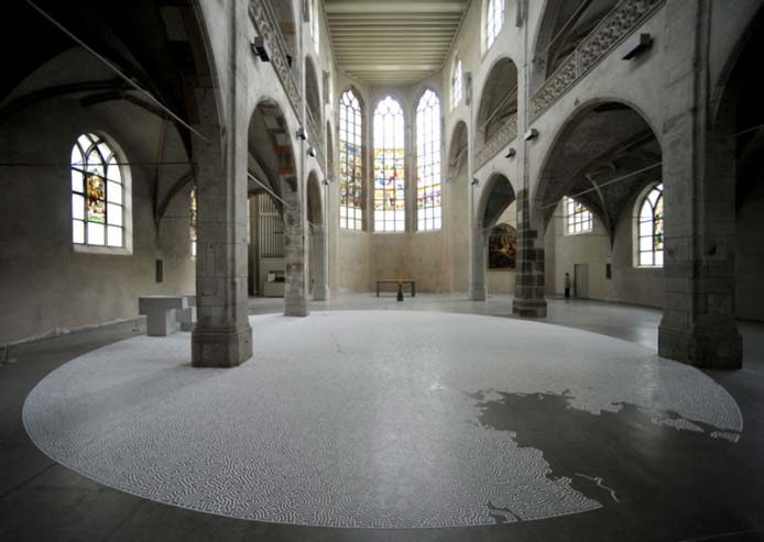 Food Art Made With Salt | Labyrinth in Cologne