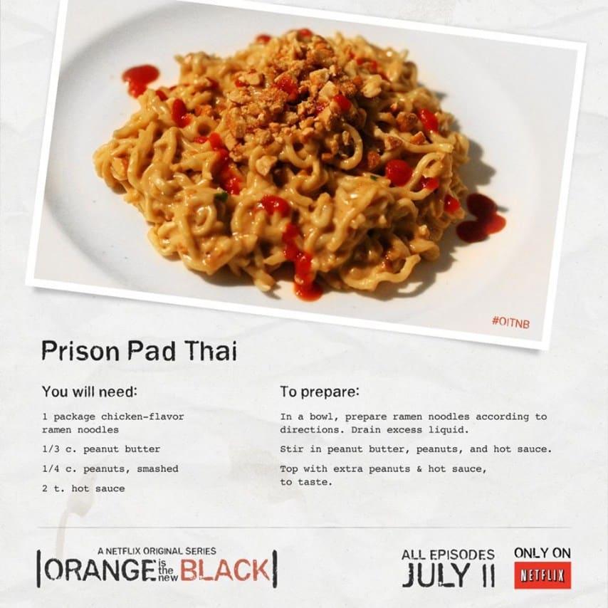 Orange Is The New Black Prison Recipes