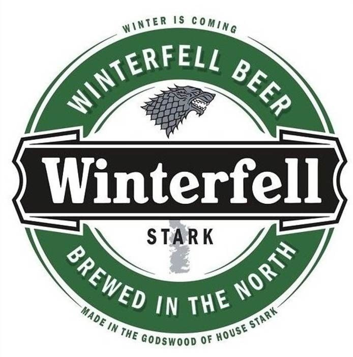 Game Of Thrones Beer Labels | Winterfell