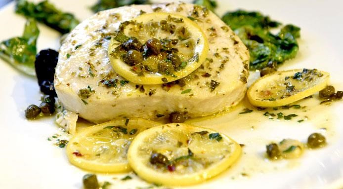 steamed swordfish