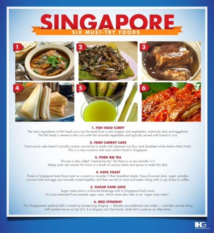 Singapore Six Must Try Foods