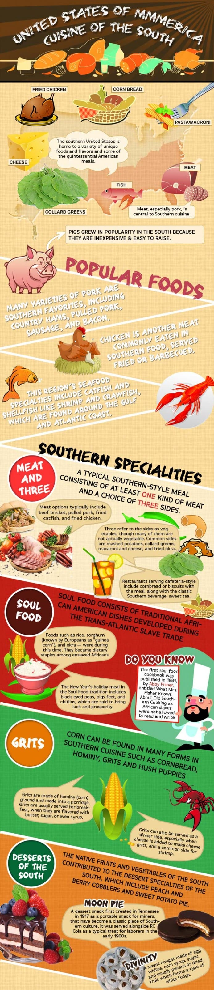 South America food infographic