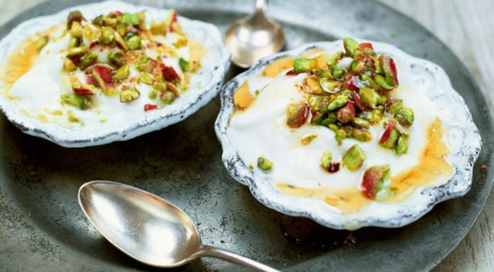 Image result for Greek yogurt and honey