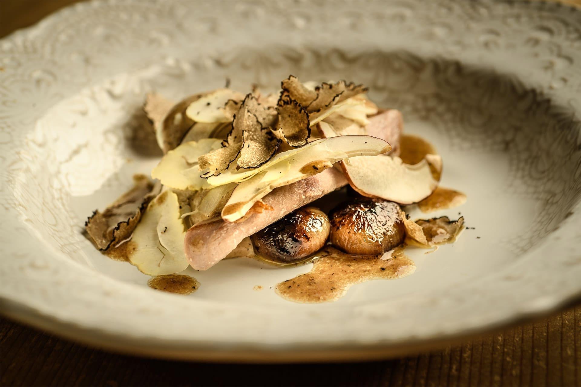 Pheasant, chestnut, truffle