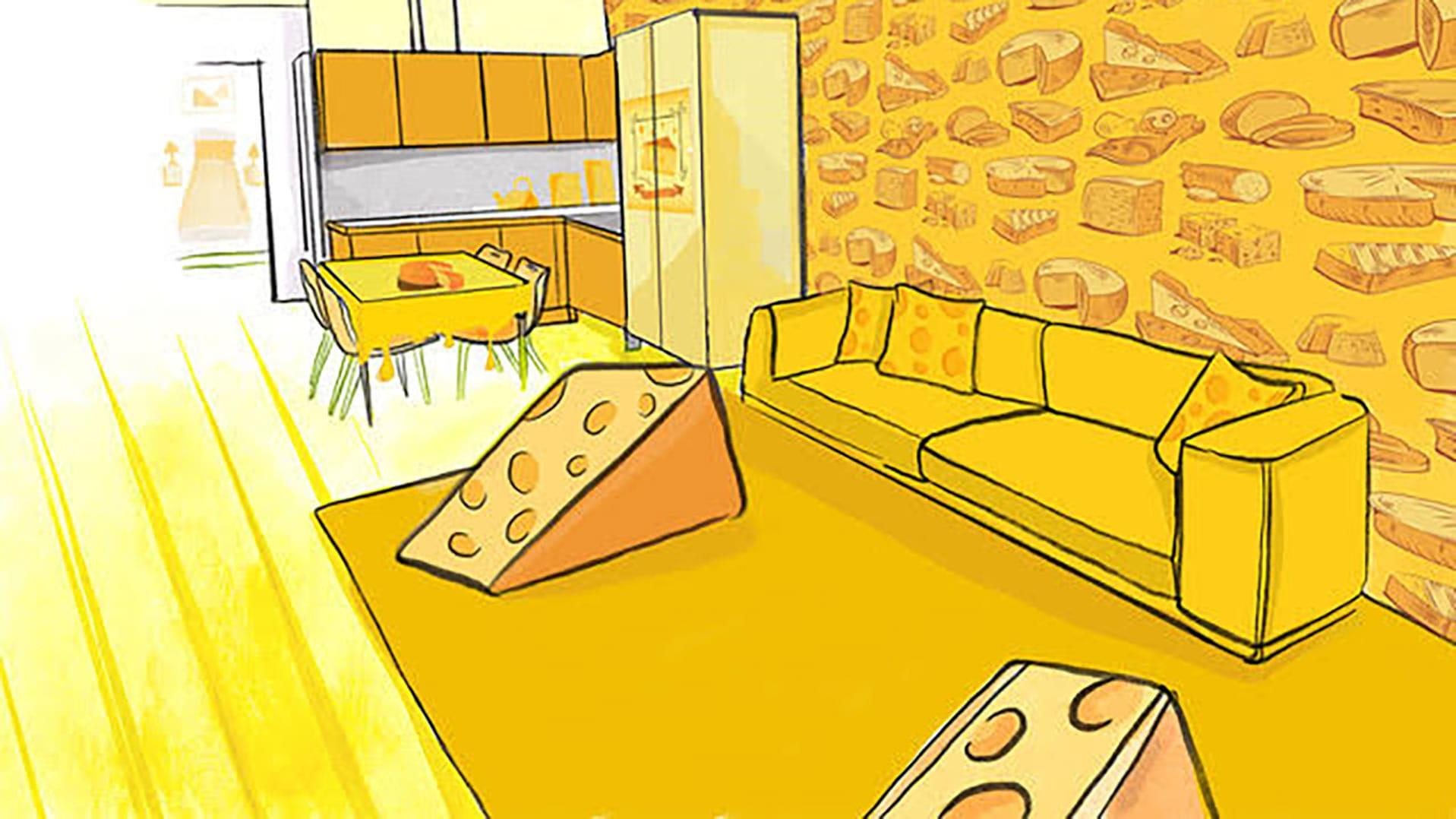 Cheese Hotel Room