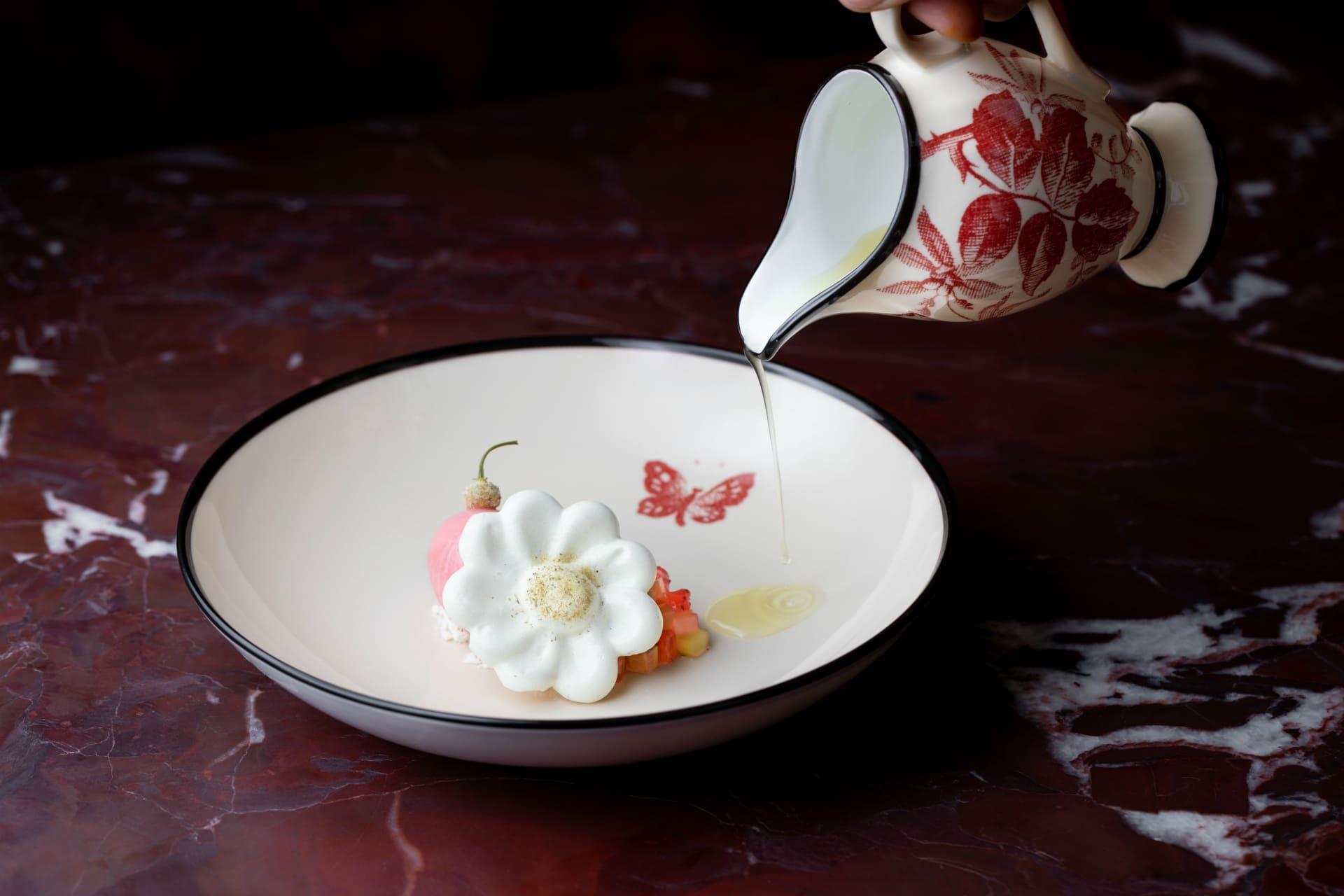 A dish from Gucci Osteria da Massimo Bottura Beverly Hills