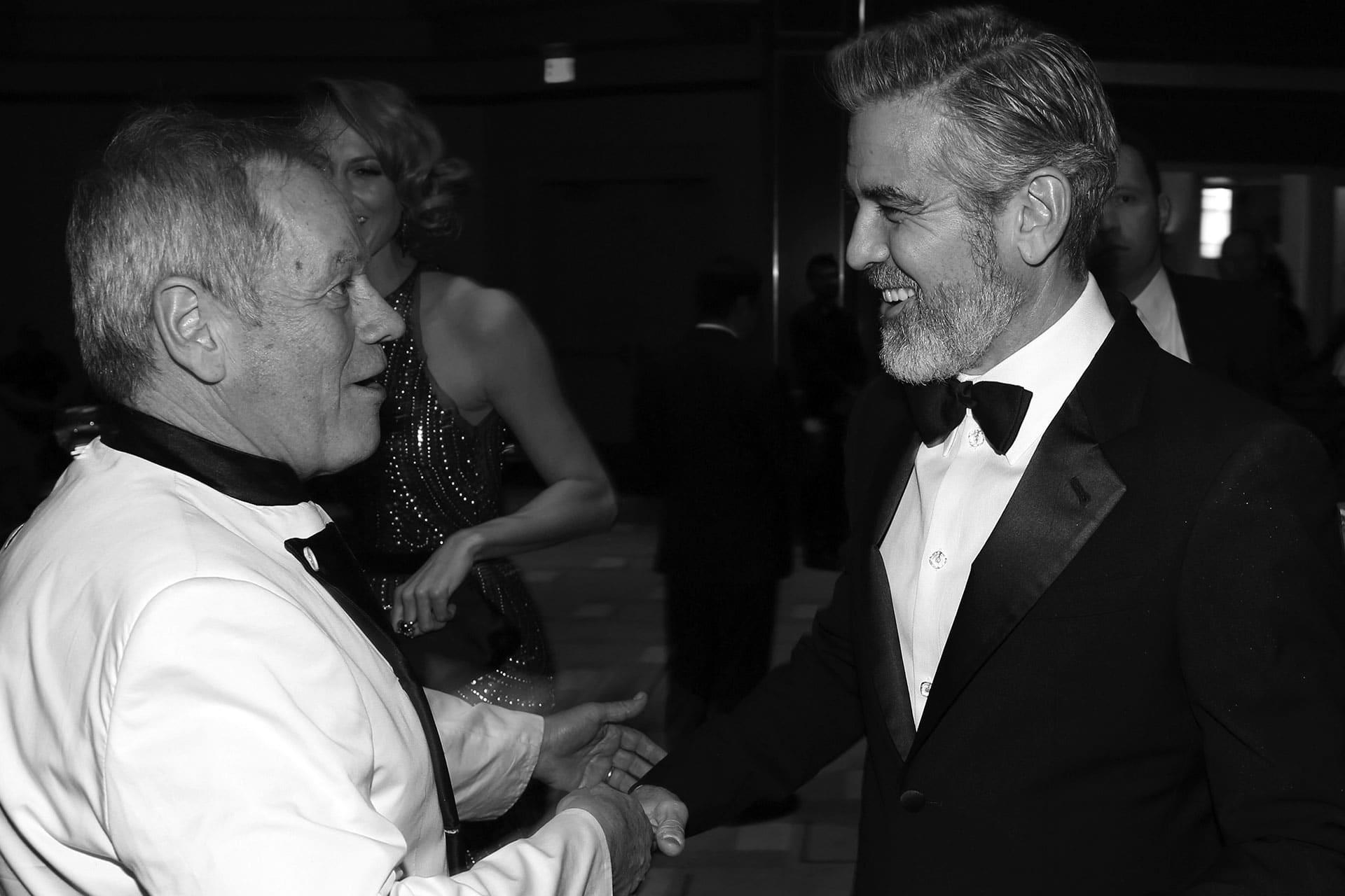 Puck and George Clooney