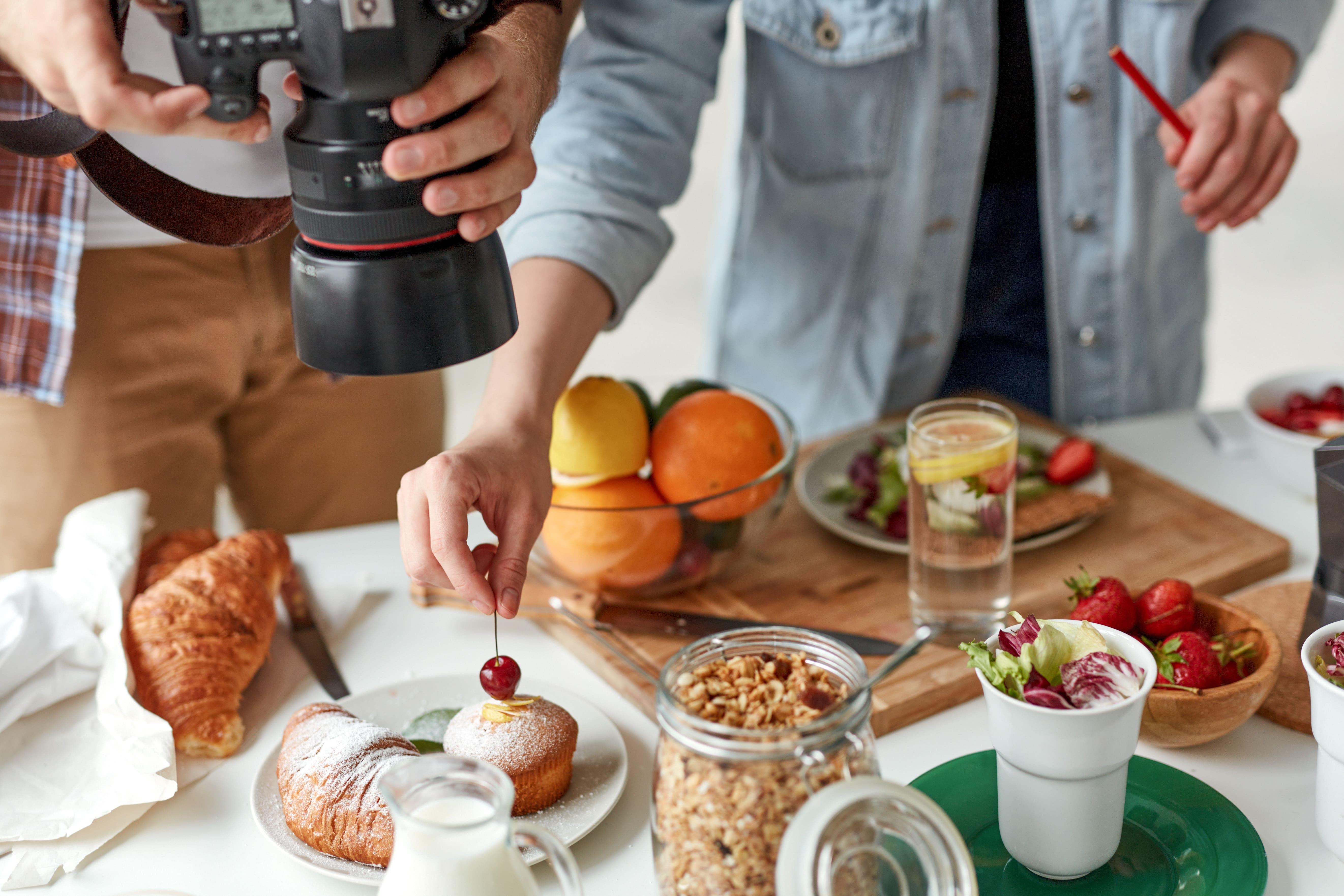 Food photography at home