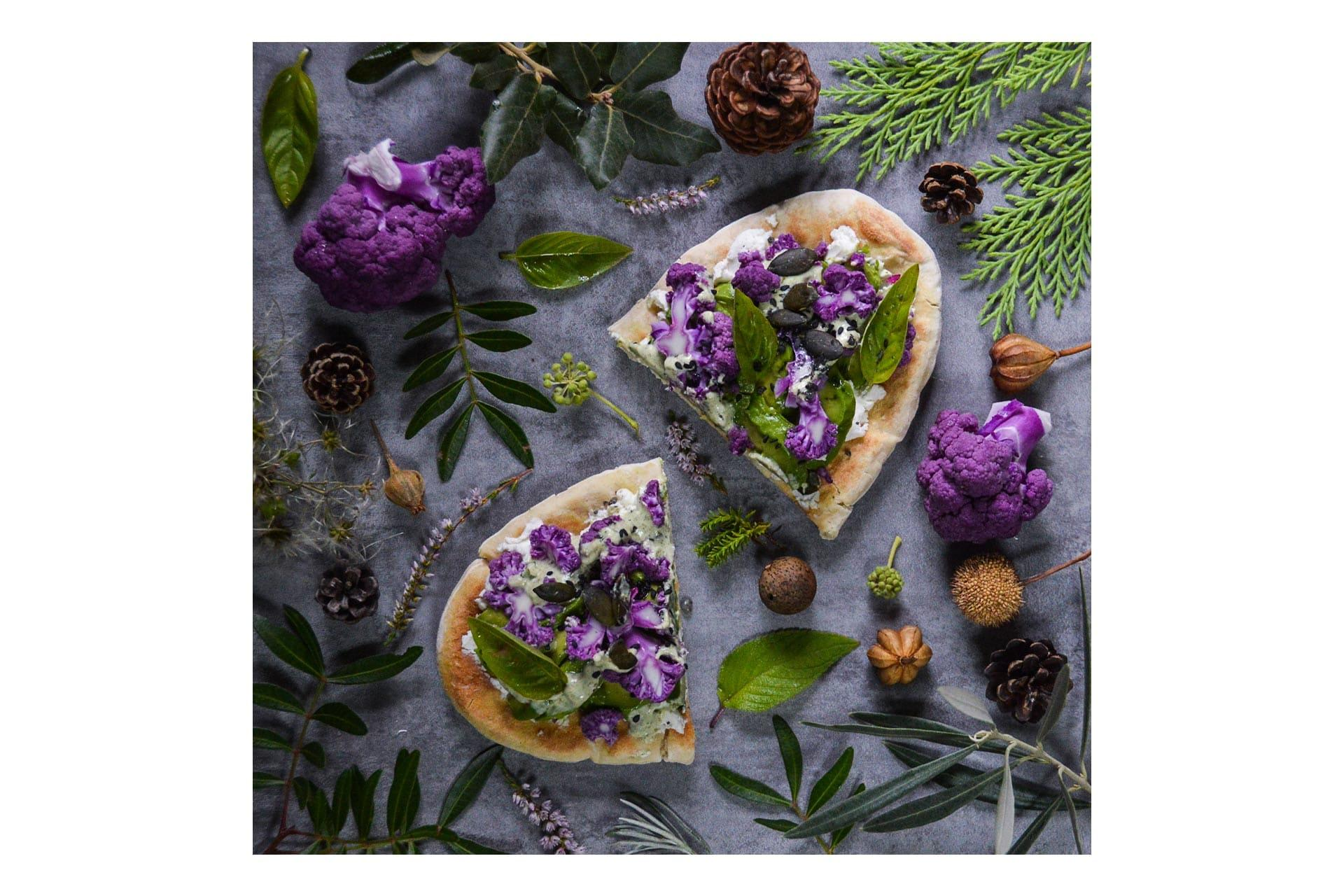 Pizza Chou violet avocat