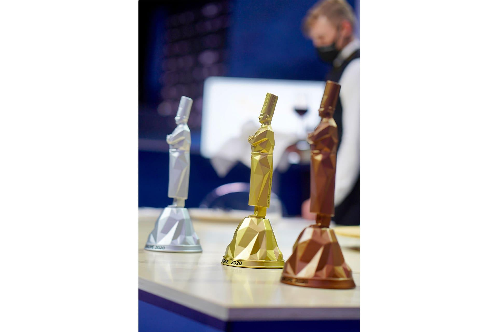 The prizes for the top three of Bocuse d'Or 2020 Europe