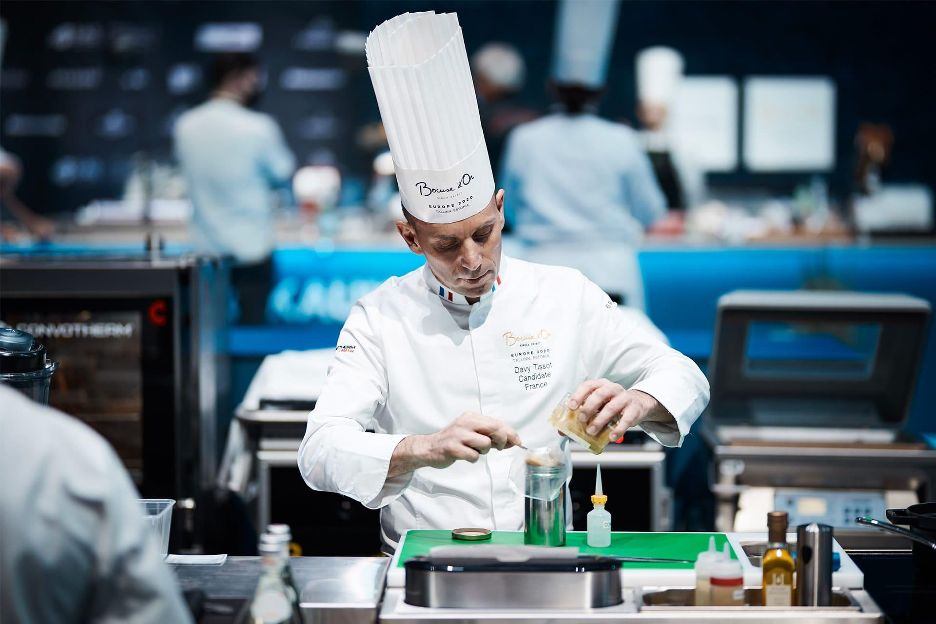 Davy Tissot from France during the Bocuse d'Or 2020 Europe
