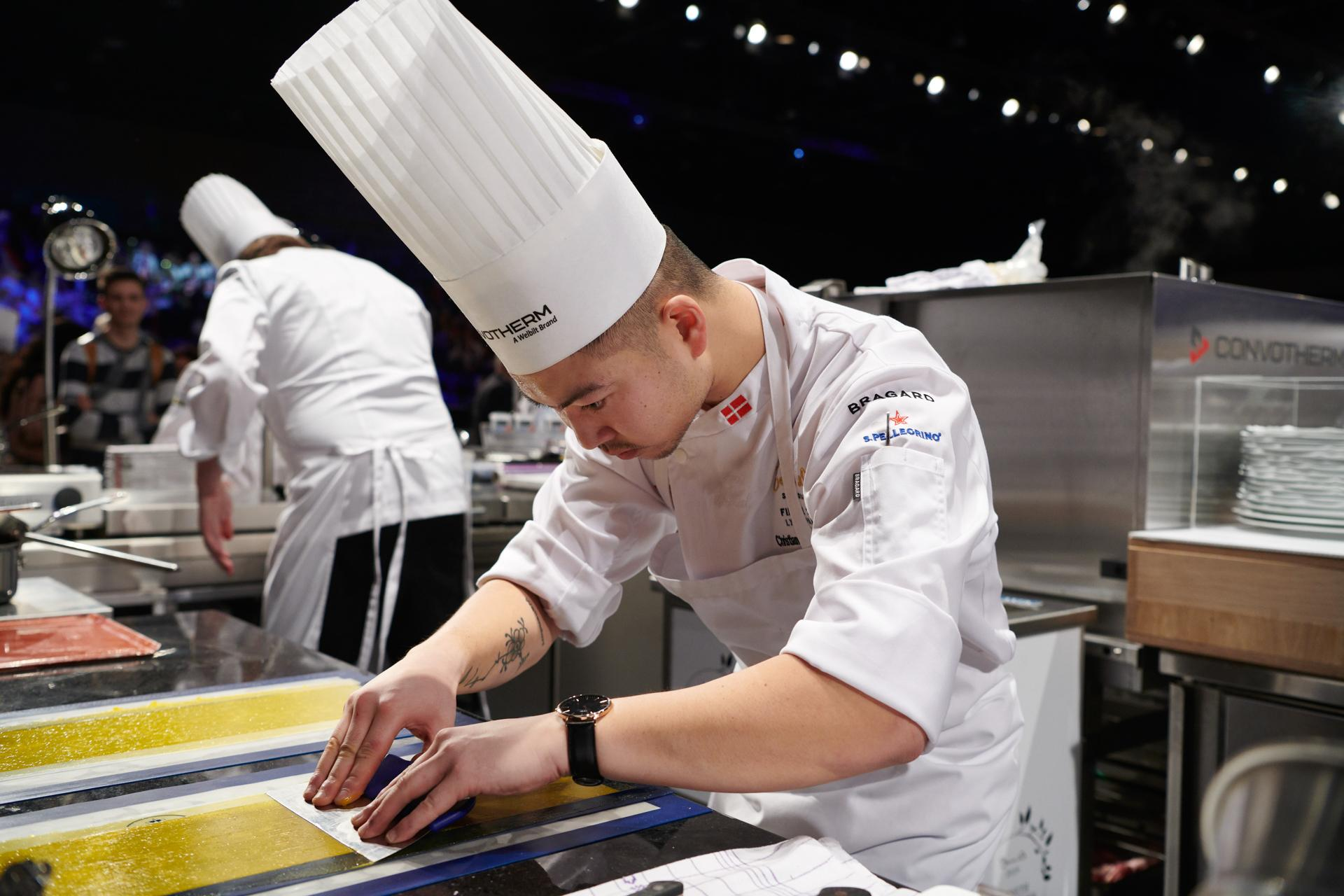 Team Denmark working on the plating at Bocuse d'Or 2019