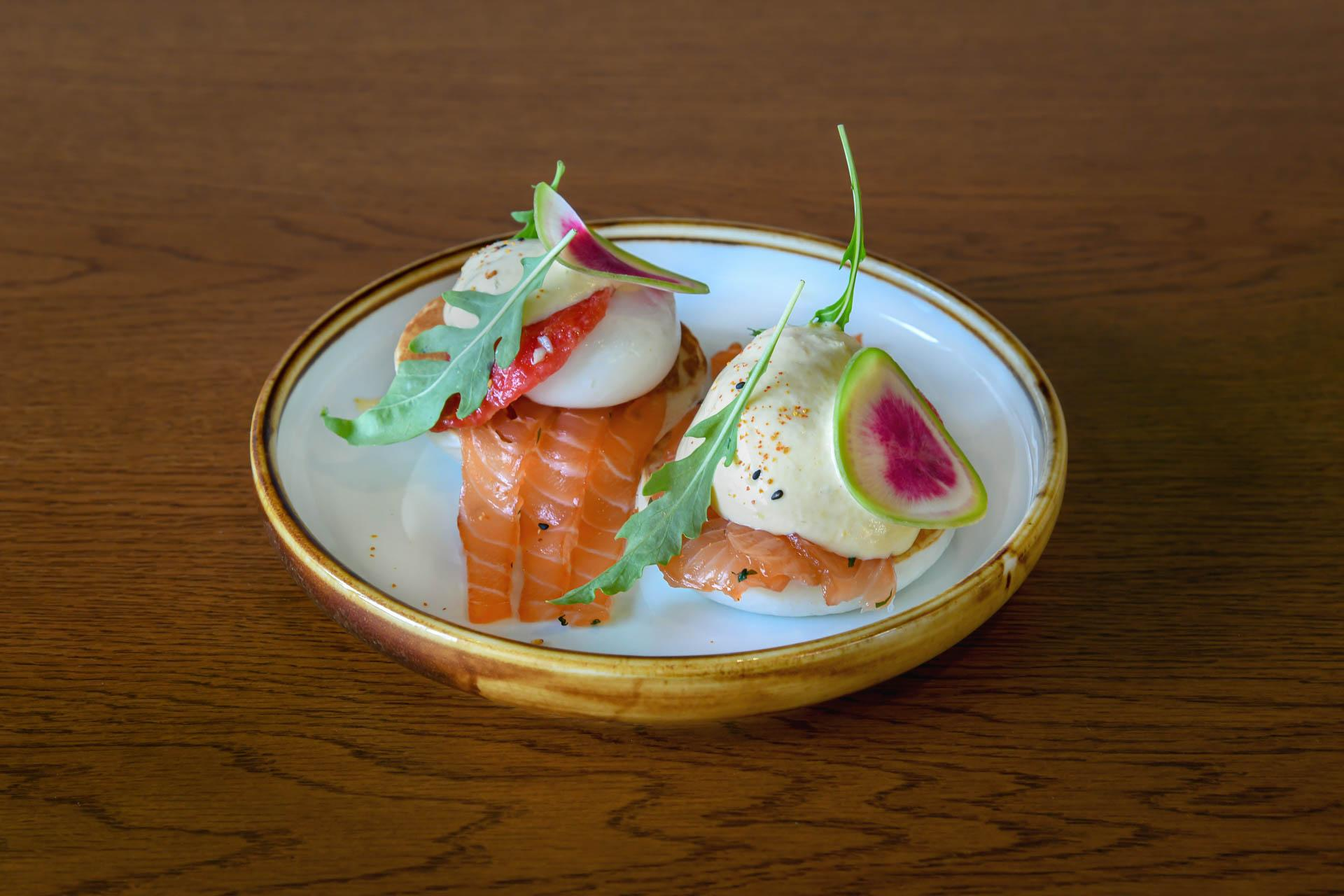 REIF BENEDICT SHISO CURED SALMON