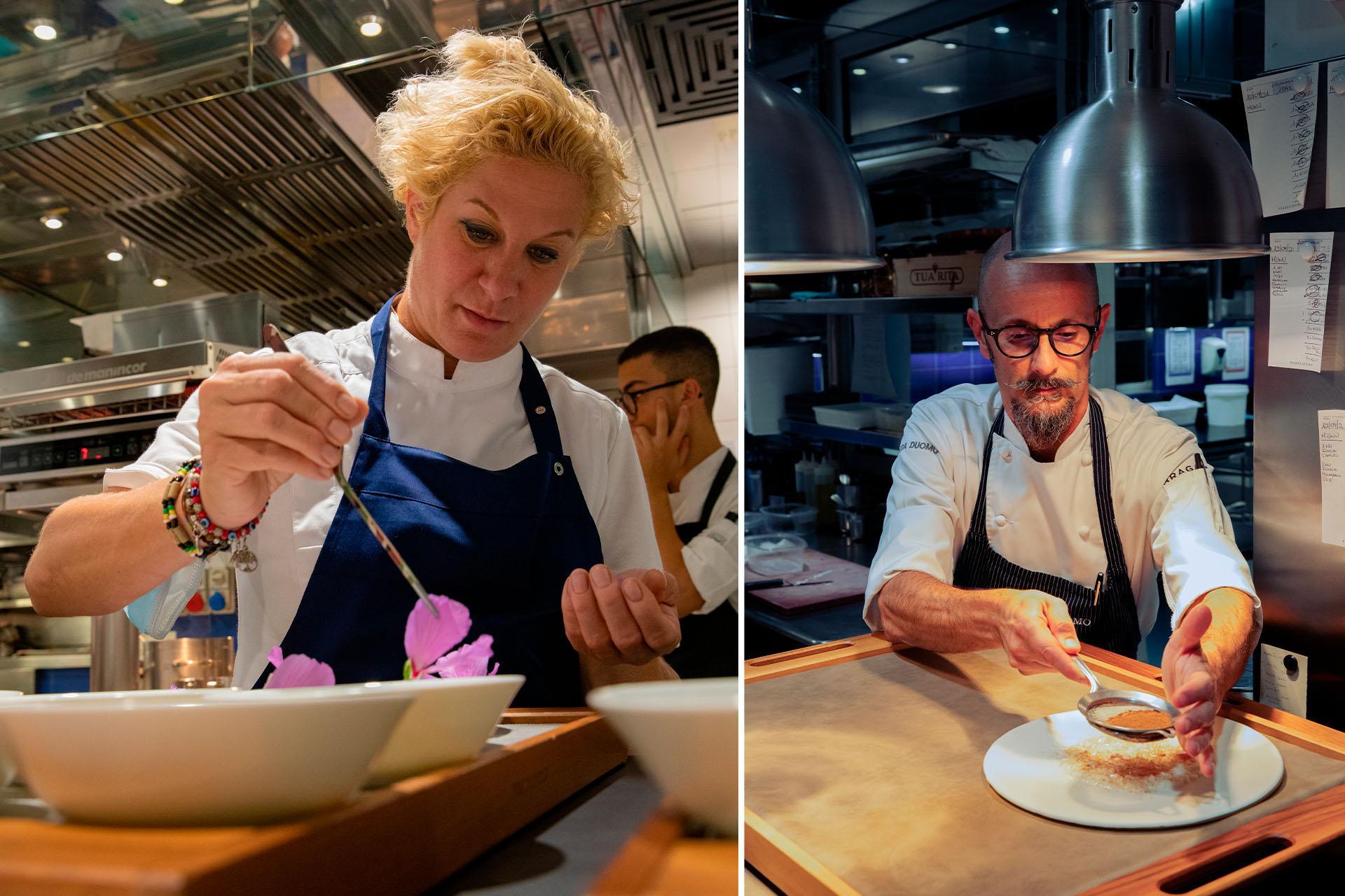Ana Roš and Enrico Crippa