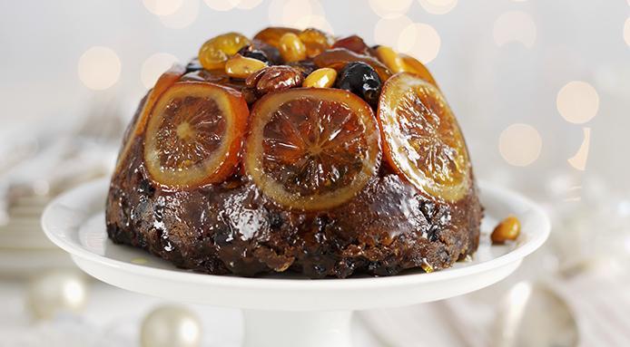 Christmas Pudding And Custard