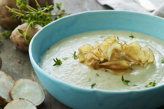 Jerusalem Artichoke Soup And Chips