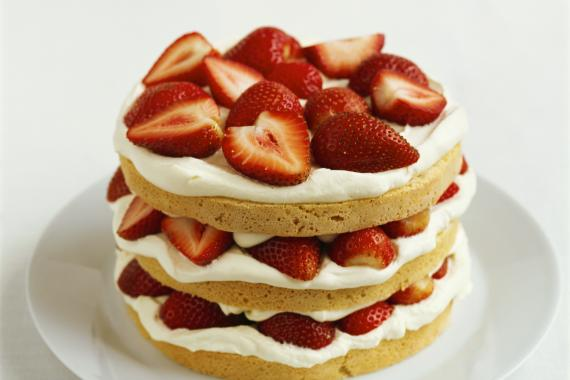 Strawberry Shortcake With Cream