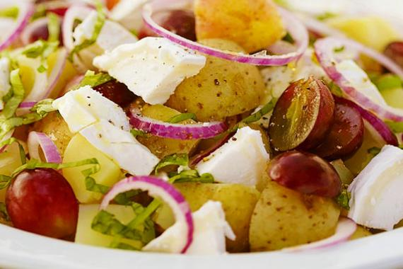 potato salad with goats cheese